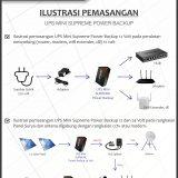Smart UPS Mini Supreme 12V untuk Modem, Fingerprint, Router